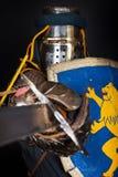 O guerreiro é durante a luta Fotografia de Stock Royalty Free