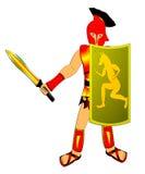 O guerreiro com arma Imagens de Stock