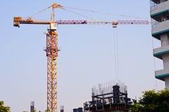 O guindaste de construção Imagem de Stock