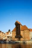 O guindaste em Gdansk Imagens de Stock Royalty Free