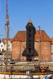 O guindaste em Gdansk Foto de Stock Royalty Free