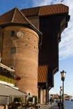 O guindaste em Gdansk Fotos de Stock