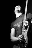 O guitarrista Foto de Stock