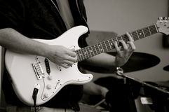 O guitarrista! Foto de Stock Royalty Free