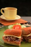 O hamburguer Imagens de Stock