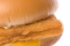 O hamburguer da faixa de peixes isolou-se Imagem de Stock Royalty Free