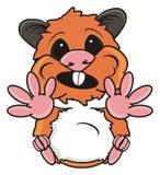 O hamster puxa os pés vazios ilustração royalty free