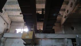O hangar velho da fábrica video estoque