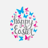 O2017-03-22-17. Happy Easter Spring Holiday Background Illustration EPS10 stock illustration