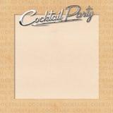 O happy hour do convite do partido de Cockail convida Chrome Foto de Stock