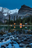 O`Hara Lake Lodge twilight Stock Photo