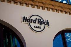 O Hard Rock Café em Krakow, Polônia fotografia de stock