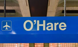 O'Hare Lotniskowa stacja metru - Chicago obraz royalty free