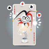 Cartão do Harlequin do palhaço Imagem de Stock Royalty Free