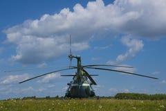 O helicóptero aterrado Imagens de Stock Royalty Free