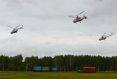 O helicóptero EMERCOM do salvamento de Rússia na escala do centro do salvamento de Noginsk durante o ` internacional do salão de  Imagens de Stock