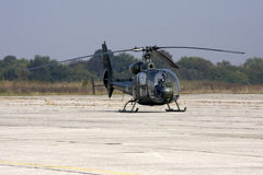 O helicóptero no aeródromo Imagem de Stock Royalty Free