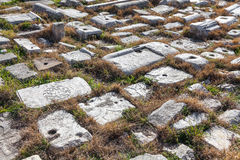 Heptapyrgion de paredes bizantinas foto de stock royalty free