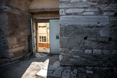Heptapyrgion de paredes bizantinas imagens de stock