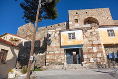 Heptapyrgion de paredes bizantinas fotografia de stock royalty free