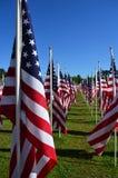 O heroísmo da bandeira americana voa o campo da honra Imagem de Stock Royalty Free