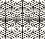 O hexágono arredondado preto e branco sem emenda do vetor alinha o teste padrão do laço ilustração stock