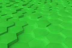 O hexágono monocromático verde telha o fundo abstrato Fotos de Stock Royalty Free
