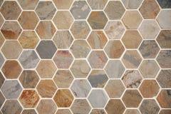 O hexágono pavimenta fotografia de stock