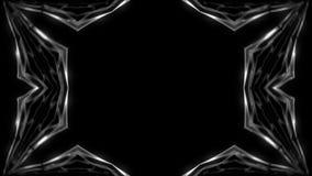 O hexahedron abstrato do caleidoscópio da simetria, 3d rende o contexto, geração do computador ilustração royalty free