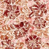 O hibiscus do Grunge floresce o teste padrão sem emenda Imagem de Stock
