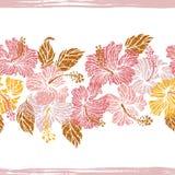 O hibiscus floresce a beira infinita Fotografia de Stock Royalty Free