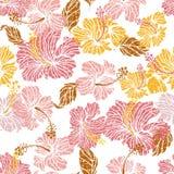 O hibiscus floresce o teste padrão sem emenda Imagens de Stock Royalty Free