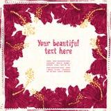 O hibiscus floresce a vinheta Imagem de Stock