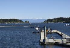 O hidroavião entrou no cais, Nanaimo, BC foto de stock