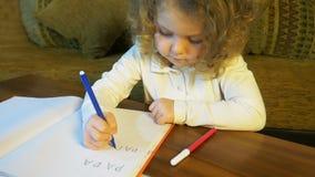 O hild do ¡ de Ð aprende escrever em casa palavras, educação video estoque