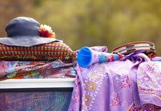 Objetos do Hippie foto de stock