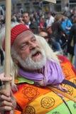 O hippy não está feliz Imagens de Stock Royalty Free