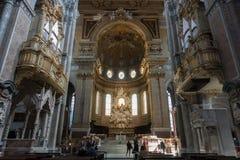 O ` histórico de San Gennaro dos di do domo do ` da catedral Imagens de Stock