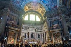 O ` histórico de San Gennaro dos di do domo do ` da catedral Imagens de Stock Royalty Free