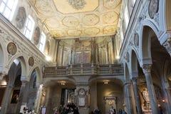 O ` histórico de San Gennaro dos di do domo do ` da catedral Imagem de Stock Royalty Free