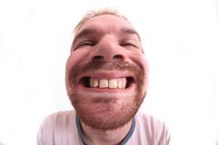 O homem é boca da abertura Imagens de Stock Royalty Free