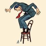 O homem é rato receoso ilustração do vetor