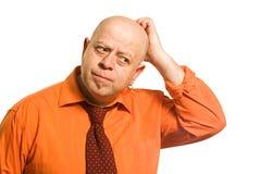O homem é triste Fotografia de Stock
