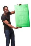 O homem africano de sorriso como o homem de negócios preto com Foto de Stock