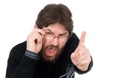 O homem agita o dedo Imagens de Stock Royalty Free