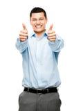 O homem asiático manuseia acima de feliz fotos de stock royalty free