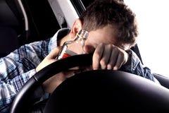 O homem bêbedo causa o acidente Fotografia de Stock Royalty Free