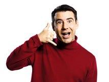 O homem chama-me gesto Imagem de Stock Royalty Free
