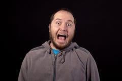 O homem com a boca larga abre isolado Imagens de Stock