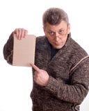 O homem com o livro Imagem de Stock Royalty Free